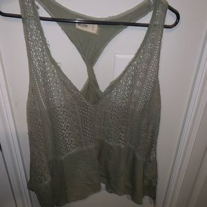 Cute olive green lacey tank